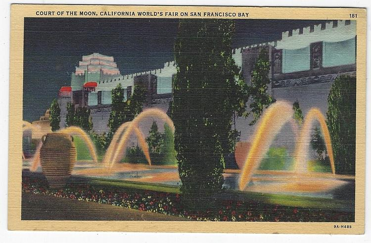 COURT OF MOON, CALIFORNIA WORLD'S FAIR ON SAN FRANCISCO BAY, CALIFORNIA, Postcard
