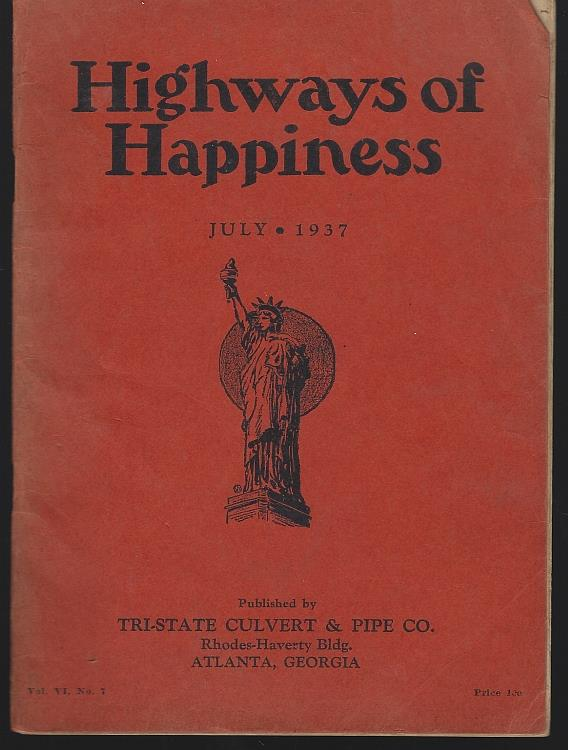 HIGHWAYS OF HAPPINESS JULY 1937, Tri-State Culvert and Pipe Co.