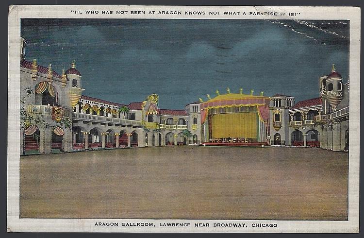 ARAGON BALLROOM, CHICAGO, ILLINOIS, Postcard