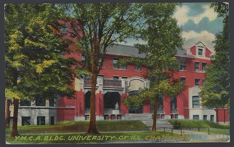 Y. M. C. A BUILDING, UNIVERSITY OF ILLINOIS, CHAMPAIGN, ILLINOIS, Postcard