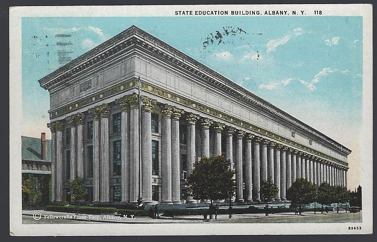 STATE EDUCATION BUILDING, ALBANY, NEW YORK, Postcard