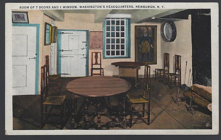 ROOM OF SEVEN DOORS AND ONE WINDOW, WASHINGTON HEADQUARTERS, NEWBURGH, NEW YORK, Postcard