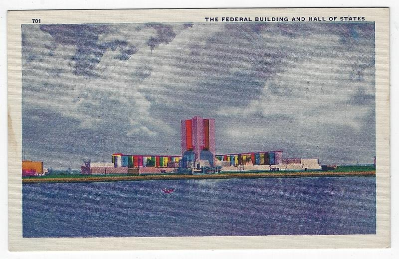 FEDERAL BUILDINGS AND HALL OF STATES, CHICAGO'S WORLD'S FAIR, 1933, Postcard