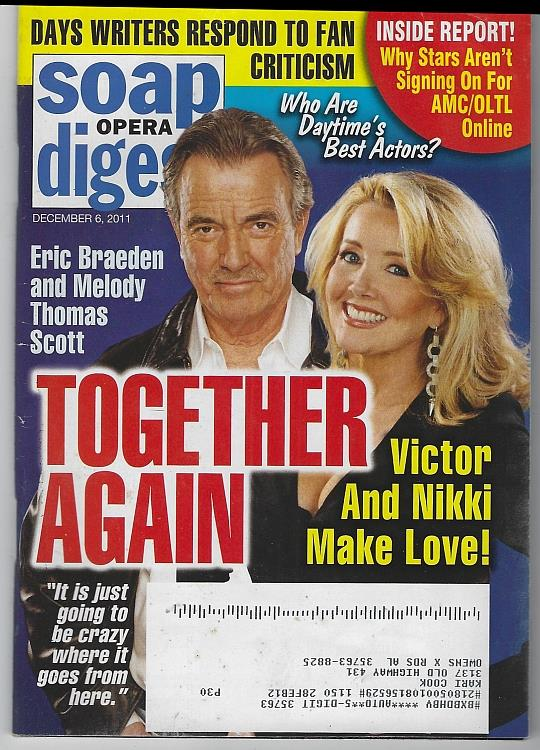 Image for SOAP OPERA DIGEST DECEMBER 6, 2011