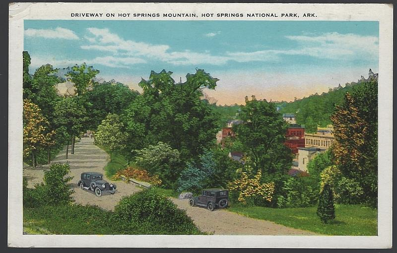Image for DRIVEWAY ON HOT SPRINGS MOUNTAIN, HOT SPRINGS, ARKANSAS