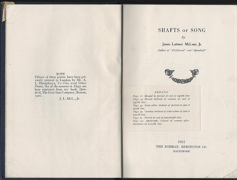 Image for SHAFTS OF SONG