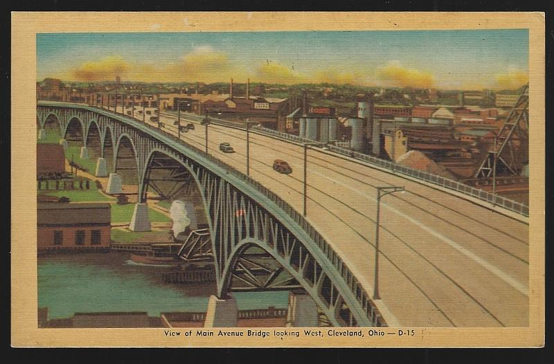 Image for VIEW OF MAIN AVENUE BRIDGE LOOKING WEST, CLEVELAND, OHIO