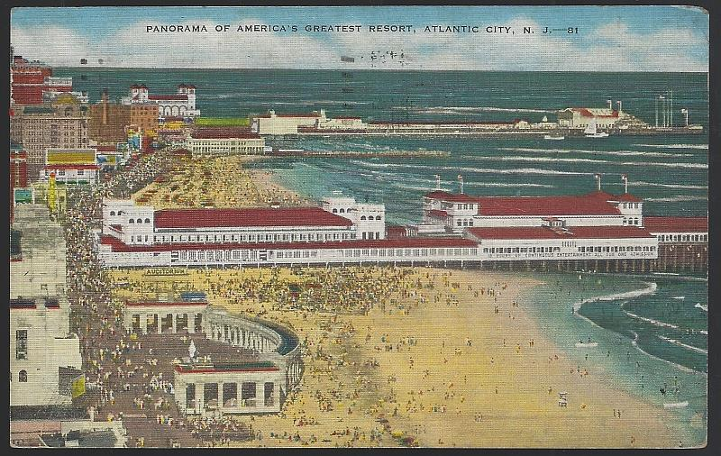 Image for PANORAMA OF AMERICA'S GREATEST RESORT, ATLANTIC CITY, NEW JERSEY