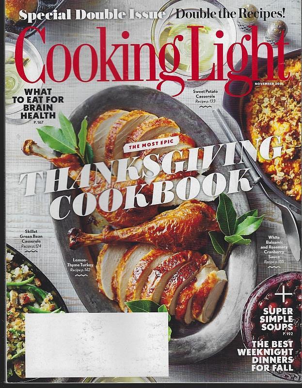 Image for COOKING LIGHT MAGAZINE NOVEMBER 2016