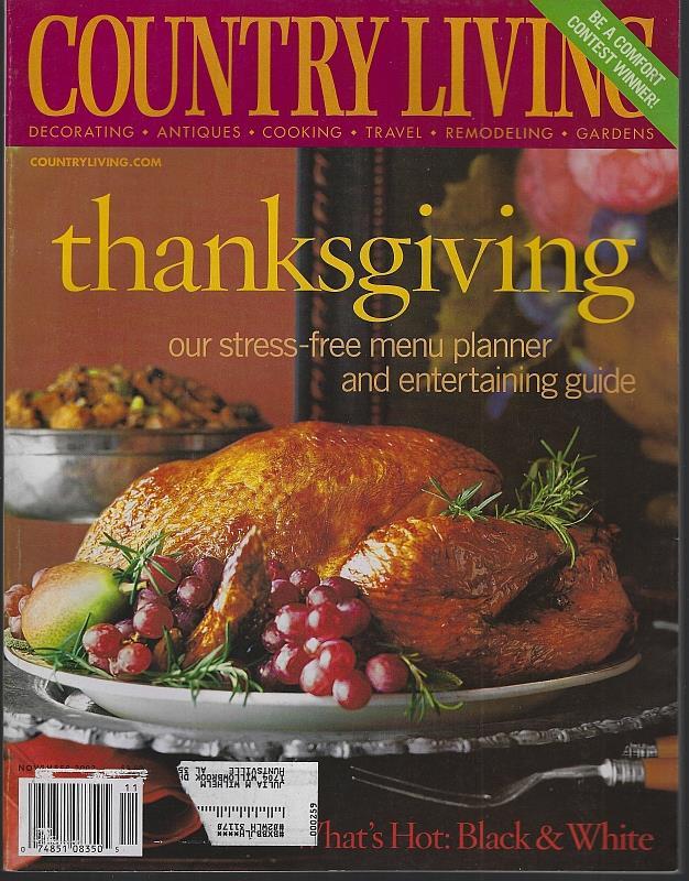 Image for COUNTRY LIVING MAGAZINE NOVEMBER 2003