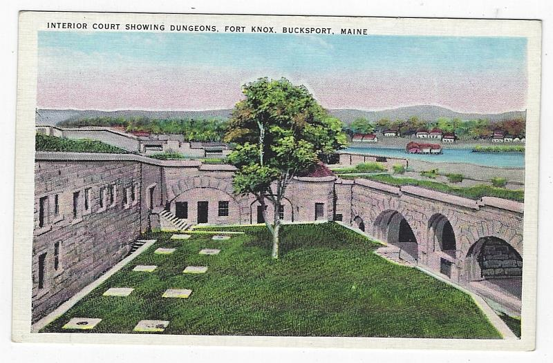 Image for INTERIOR COURT SHOWING DUNGEONS, FORT KNOX, BUCKSPORT, MAINE