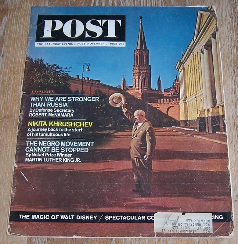 Image for SATURDAY EVENING POST MAGAZINE NOVEMBER 7, 1964