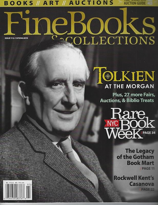 Image for FINE BOOKS AND COLLECTIONS MAGAZINE SPRING 2019