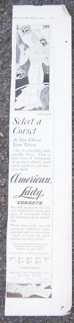 Image for 1916 LADIES HOME JOURNAL AMERICAN LADY CORSETS MAGAZINE ADVERTISEMENT
