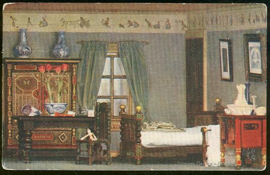 TUCK'S POSTCARD OF PRINCESS DAPHNE'S BEDROOM IN TITANIA'S PALACE, Postcard