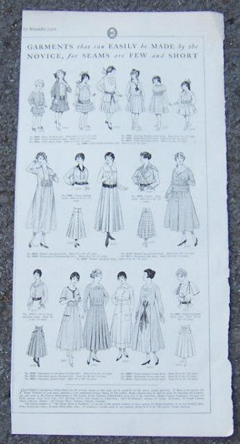 Image for 1916 LADIES HOME JOURNAL PAGE FOR GARMENTS THAT ARE EASILY MADE FOR WOMEN