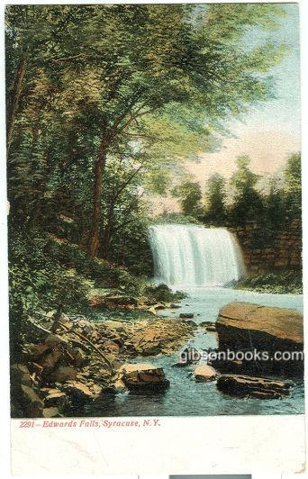 EDWARDS FALLS, SYRACUSE, NEW YORK, Postcard