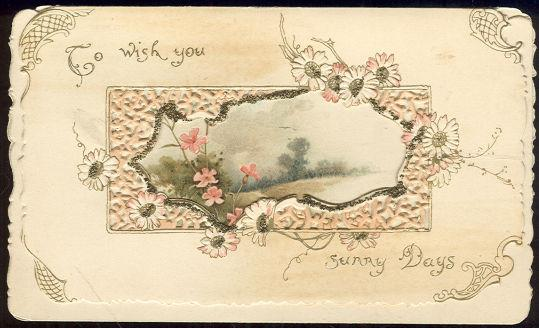 Image for VICTORIAN CHRISTMAS CARD TO WISH YOU SUNNY DAYS