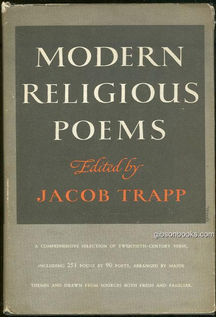 MODERN RELIGIOUS POEMS A Contemporary Anthology, Trapp, Jacob editor