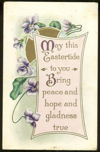 Image for EASTERTIDE POSTCARD TO BRING YOU PEACE AND HOPE
