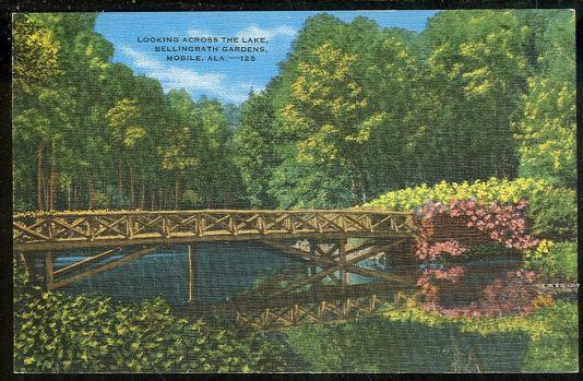 LAKE, BELLINGRATH GARDENS, MOBILE, ALABAMA, Postcard