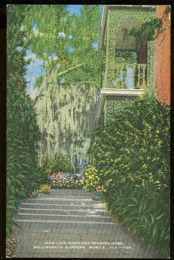 IRON LACE WORK, BELLINGRATH GARDENS, MOBILE, ALABAMA, Postcard