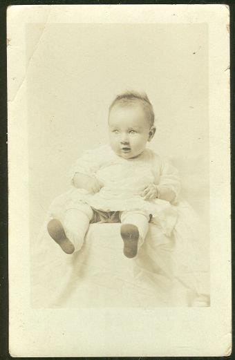 REAL PHOTO POSTCARD OF NELLIE JUANITA BLACK 3 MONTHS, Postcard
