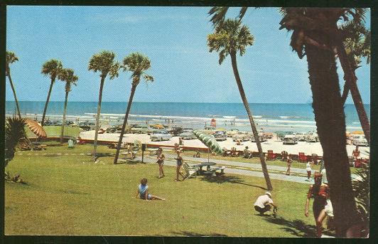 BEACH AND PALMS DAYTONA BEACH, FLORIDA, Postcard
