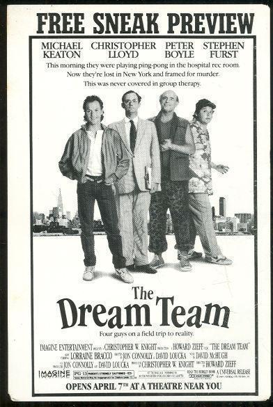 POSTCARD ADVERTISING SNEAK PREVIEW THE DREAM TEAM MOVIE, Postcard
