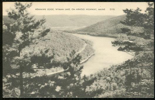 Image for HENHAWK LEDGE, WYMAN LAKE ON ARNOLD HIGHWAY, MAINE