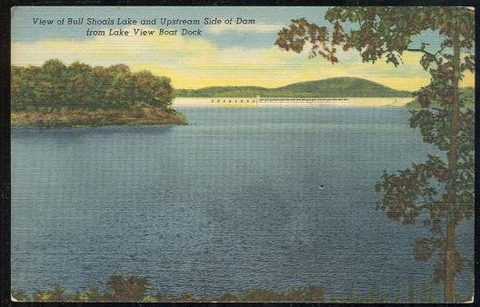 Image for VIEW OF BULL SHOALS LAKE AND UPSTREAM SIDE OF DAM FROM LAKE VIEW BOAT DECK, ARKANSAS