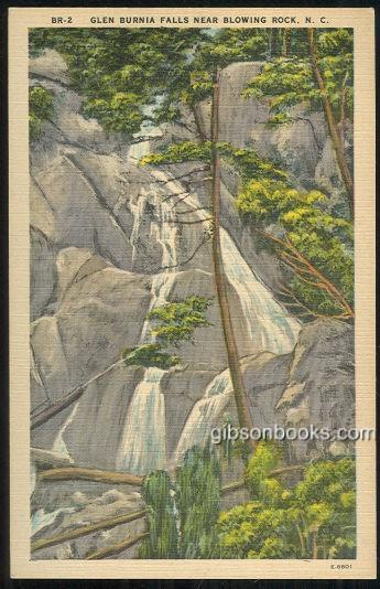 GLEN BURNIA FALLS, BLOWING ROCK, NORTH CAROLINA, Postcard