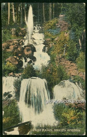 LOWER FALLS, SHASTA FALLS, OREGON, Postcard