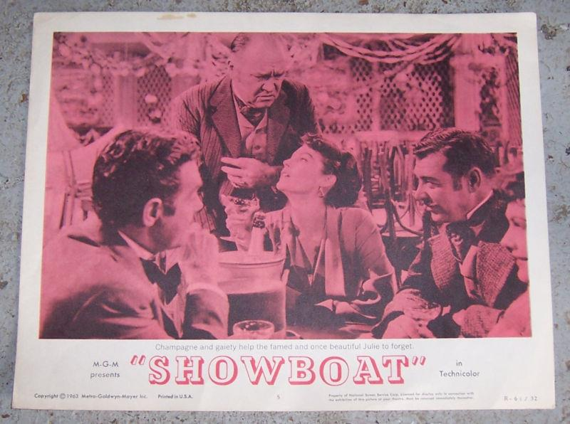 LOBBY CARD FOR SHOW BOAT STARRING KATHRYN GRAYSON, AVA GARDNER AND HOWARD KEEL