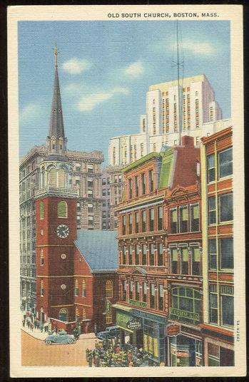 OLD SOUTH CHURCH, BOSTON, MASSACHUSETTS, Postcard