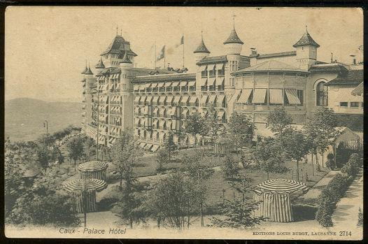 CAUX, SWITZERLAND, PALACE HOTEL, Postcard