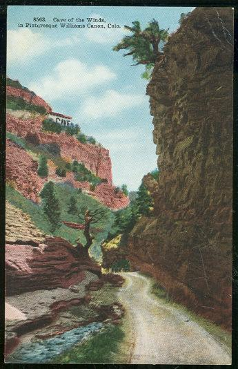 CAVE OF THE WINDS, WILLIAM CANON, COLORADO, Postcard