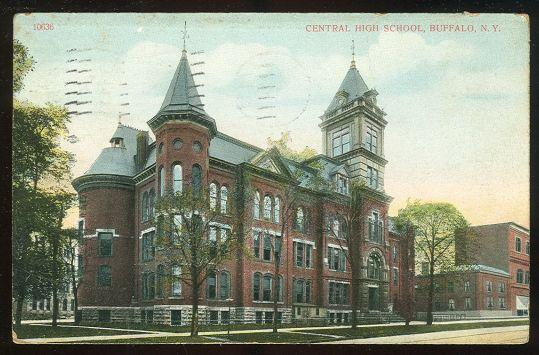 CENTRAL HIGH SCHOOL, BUFFALO, NEW YORK, Postcard