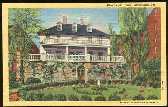 CARLYLE HOUSE, ALEXANDRIA, VIRGINIA, Postcard