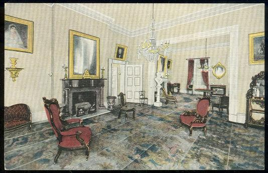 DRAWING ROOM OF THE HERMITAGE, PRESIDENT JACKSON HOME, NASHVILLE, TENNESSEE, Postcard