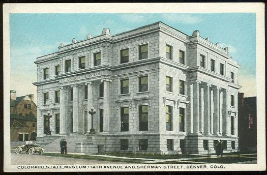COLORADO STATE MUSEUM, DENVER, COLORADO, Postcard