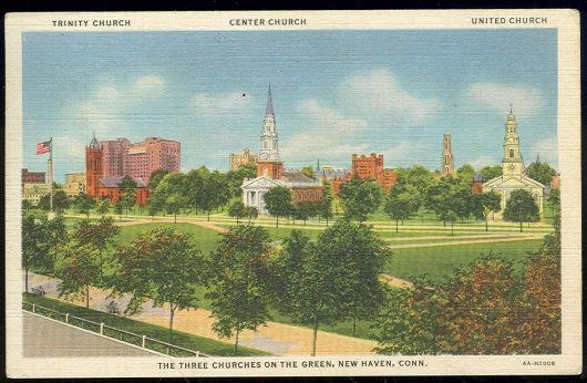 Image for THREE CHURCHES, NEW HAVEN, CONNECTICUT