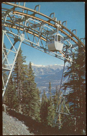 BANFF SULPHUR MOUNTAIN GONDOLA LIFT, Postcard