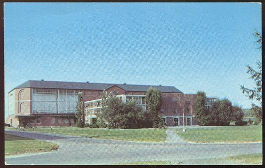 ALUMNI MEMORIAL GYMNASIUM AND INDOOR FIELD HOUSE, UNIVERSITY OF MAINE, ORONO, MAINE, Postcard