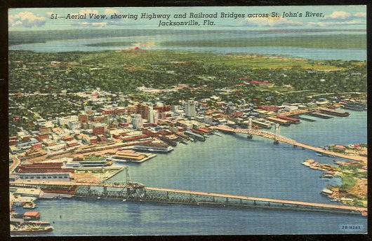 AERIAL VIEW OF JACKSONVILLE, FLORIDA, Postcard