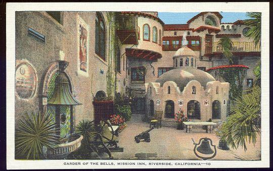 Image for GARDEN OF THE BELLS, MISSION INN, RIVERSIDE, CALIFORNIA