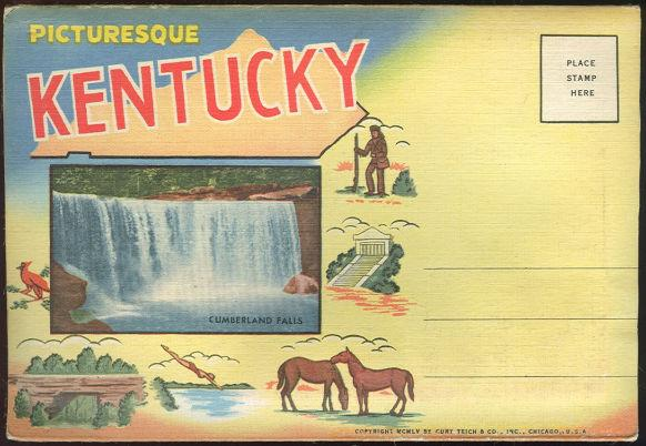 Image for SOUVENIR POSTCARD FOLDER OF PICTURESQUE KENTUCKY