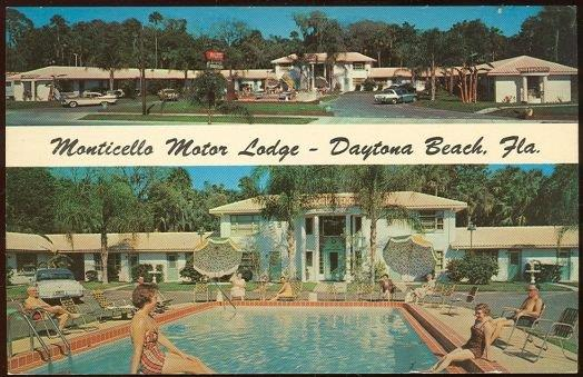 MONTICELLO MOTOR LODGE, DAYTONA BEACH, FLORIDA, Postcard