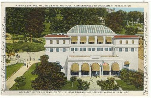 Image for MAURICE SPRINGS, MAURICE BATHS AND POOL HOT SPRINGS, ARKANSAS