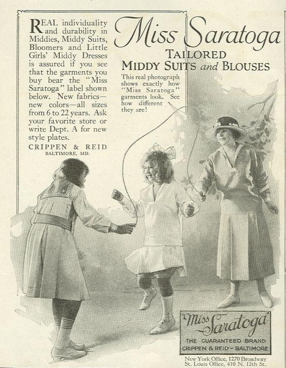 Image for 1921 LADIES HOME JOURNAL MISS SARATOGA GARMENTS MAGAZINE ADVERTISEMENT